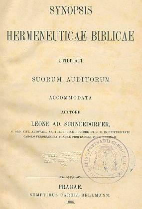 Titulní list (1885) jedné z jeho prací