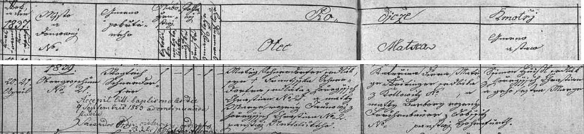"""Narodil se podle záznamu v křestní matrice jako Vojtěch Schneedorfer (připsáno je i přijetí řádového jména Leo v roce 1865) v """"Hořejších Chrášťanech"""" čp. 21 """"panství Netollickýho"""" sedláku Matěji Schneedorferovi a jeho ženě Kateřině, roz. Reitingerové z Chvalovic (Kollowitz), babička z matčiny strany pocházela z Dobšic (psaly se jako majetek kláštera i """"Dobšice na Vyšším Brodě"""", ačkoli leží pod Vysokou Bětou blízko Záboří ne tak daleko Českých Budějovic a píší se dnes Dobčice) na panství Hohenfurth (Vyšší Brod)"""