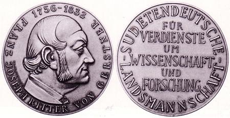 Gerstnerova medaile za zásluhy o vědu a výzkum, udělovaná od roku 1975 Sudetoněmeckým krajanským sdružením