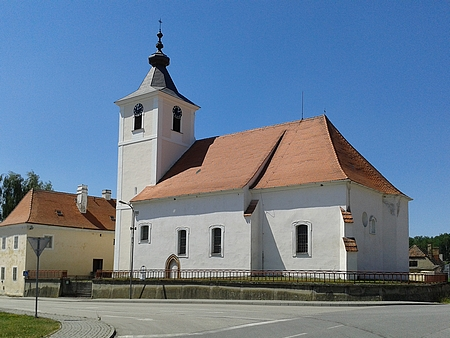 Kostel Zvěstování Panny Marie v Zahájí