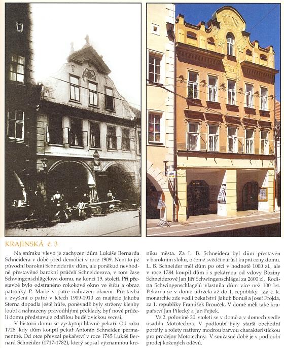 Historie jeho domu na stránkách knihy České Budějovice zmizelé