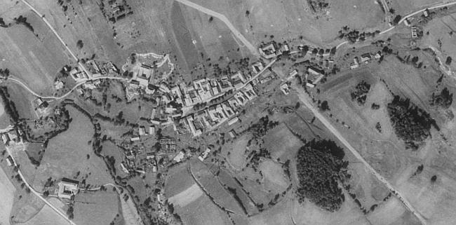 Cetviny na leteckých snímcích z let 1952 a 2008