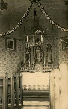 Interiér kaple v Janově Vsi