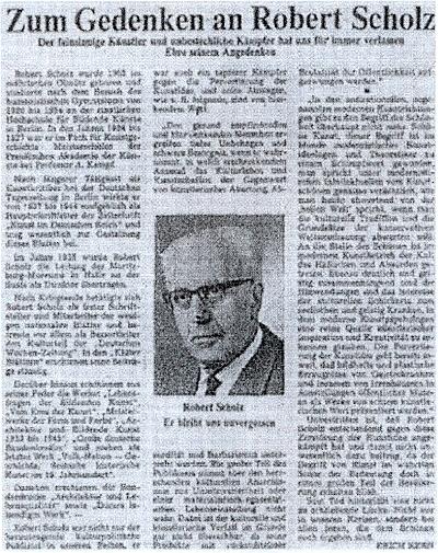Bohužel nečitelná kopie nekrologu (1981) v dobovém tisku