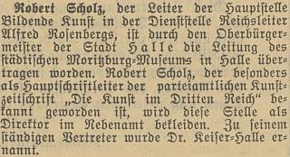 Jedna ze zpráv o něm v nacistickém deníku