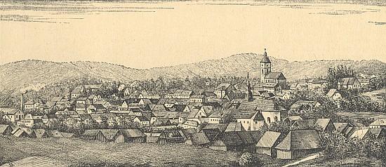 Tachov z dob jeho působení na obrázku ze Steinbrenerova vimperského kalendáře