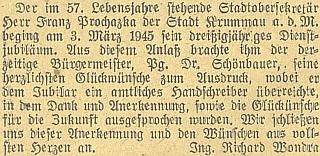 Naposledy jej Budweiser Zeitung zmiňuje v této krátké zprávě Richarda Wondry v březnu roku 1945