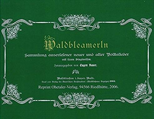 Obálka (2012, Ohetaler-Verlag) zpěvníku, který sestavil