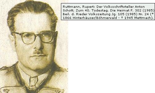Ke 40 výročí úmrtí 1985 o něm psal i významný hornorakouský nářeční básník Rupert Ruttmann, rodák z Peilsteinu blízko kláštera Schlägl