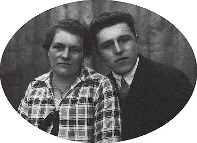 Victor Schöllhammer se svou matkou Katharinou
