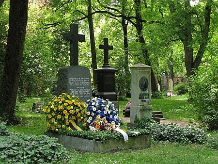 Hrob Franze Xavera von Schönwertha v Mnichově o 125. výročí jeho úmrtí