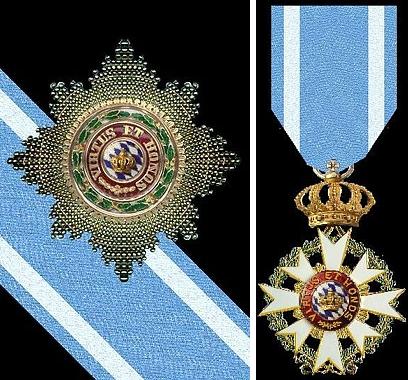 Hvězda záslužného řádu bavorské koruny se stuhou, jehož držitelé byli zároveň povýšeni do osobního nedědičného šlechtického stavu - řád zanikl pádem monarchie po první světové válce