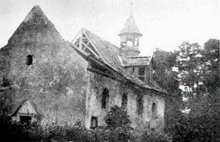 Kostel sv. Jakuba v někdejším Vranově na snímcích z třicátých let 20. století a před zánikem v letech šedesátých