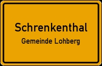 Místní tabule osady Schrenkenthal při obci Lohberg