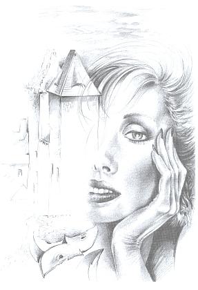 Ilustrace Zdeňka Ptáka k jejímu textu vantologii Střídavě jasno (2003)