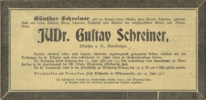 "Parte ""šumavského"" v Budweiser Zeitung"