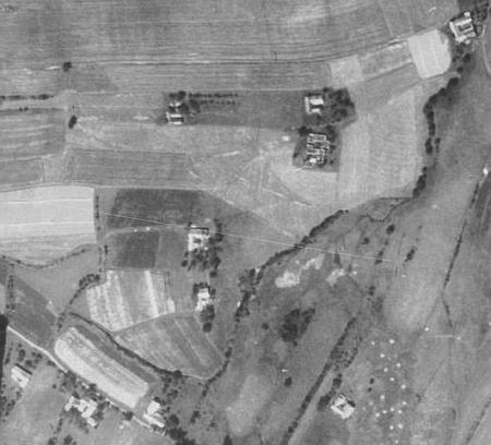 Věrtele na leteckých snímcích z let 1952 a 2010