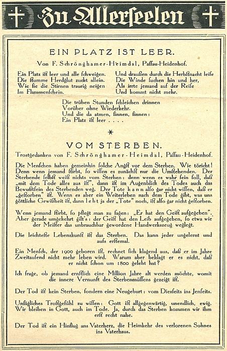"""Dva jeho """"dušičkové"""" texty v obrazové příloze jednoho z mnoha německých listů """"meziválečného"""" Československa"""