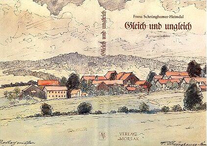 Obálka knihy (1981) vydané nakladatelstvím Morsak v Grafenau s původním autorovým akvarelem z r.1939,znázorňujícím rodnou obec