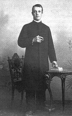 Jako student teologie v Pasově 1901
