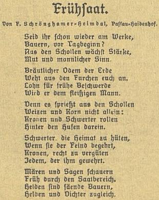 Báseň Jitřní setba vyšla v květnu osudného roku 1938 v Budweiser Zeitung