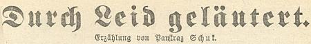"""Jeho dlouhá povídka """"Očištěno bolestí"""" vyšla na stránkách budějovického kalendáře listu Dorfbote na rok 1942"""