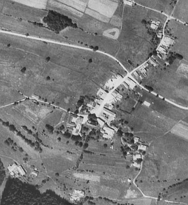Rychnůvek na leteckých snímcích z let 1952 a 2008