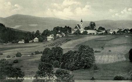 """Další pohlednice s válečným názvem osady, připadlé """"župě Oberdonau"""""""