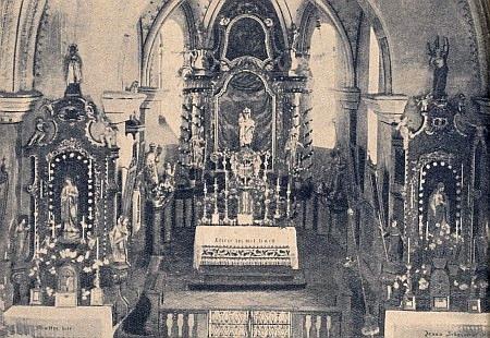Vnitřek někdejšího kostela sv. Václava v Rychnůvku