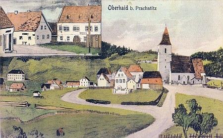 Staré pohlednice ze Zbytin, horní foto Josef Seidel