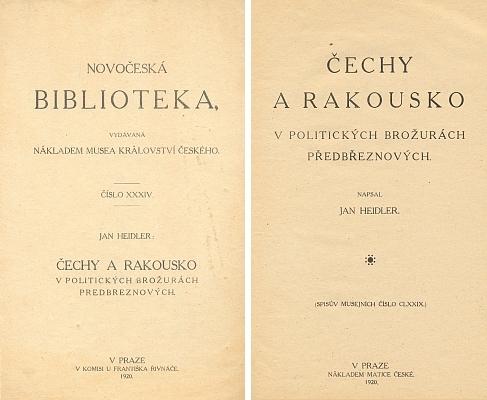 V této knize je Schuselkovi a jeho často anonymně vydaným protivládním brožurám z let 1843-1846 věnována patřičná pozornost