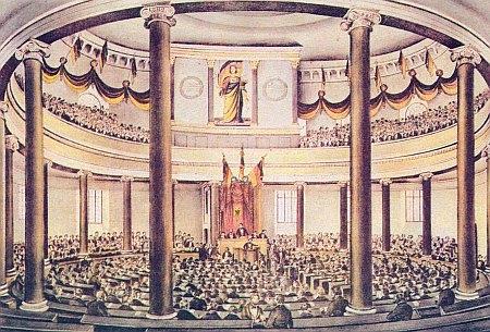 Zasedání německého Národního shromáždění ve Frankfurtu nad Mohanem v květnu 1848...