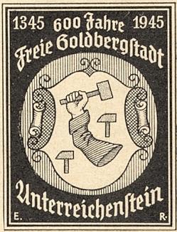 Slavit 600. jubileum jeho rodného Rejštejna už bylo zdejšímu německému obyvatelstvu vzhledem k vývoji událostí upřeno: zachoval se jen tento emblém chystané akce