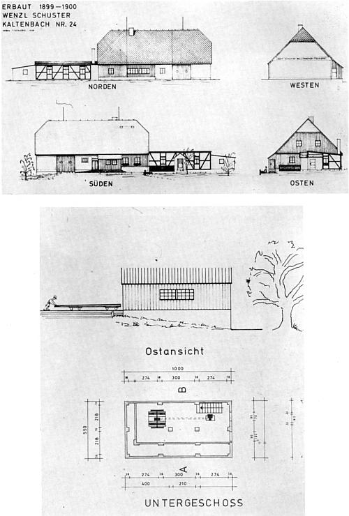 Schworzei-Haus čp. 24 ve stavební dokumentaci