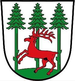 Znak městyse Konnersreuth, kde je pochován