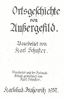 Titulni list jeho rukopisné kroniky (1937)