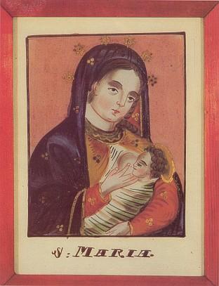Kojící Panna Maria na podmalbě z Kvildy figuruje rovněž v jeho knize z roku 1980
