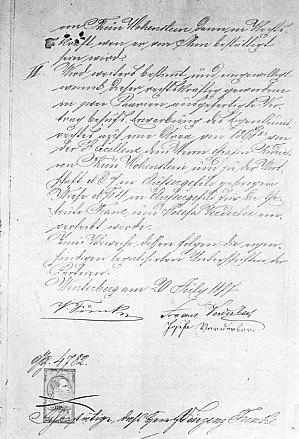 Smlouva mezi Verdeberovými a správou panství Thun-Hohensteinů