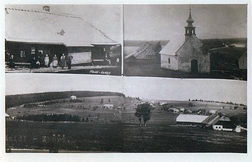 Složená pohlednice ze Zhůří