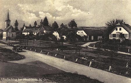 Jeho rodná ves Oldřiš (Ulrichschlag) u Nové Bystřice