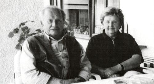 Se ženou Idou na snímku z roku 2001