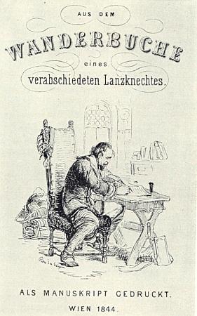 """Titulní list prvního vydání (1844) jeho """"Wanderbuchu"""""""