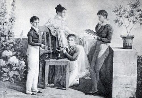 Auguste Garnerey je autorem i tohoto zpodobení kněžny Anny a jejích synů Friedricha, Karla a Edmunda, vzniklého rovněž roku 1812 a nacházejícího se dnes ve sbírkách orlického zámku