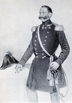 Tady jej Haala zpodobil v uniformě švýcarského plukovníka