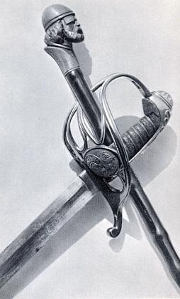 Lancknechtova hůl s hlavou Žižkovou a karlistická šavle