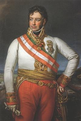Jeho otec,  Karel I. Filip ze Schwarzenbergu (1771-1820), v uniformě rakouského polního maršála na portrétu od malíře Johanna Petera Kraffta z doby kolem roku 1840