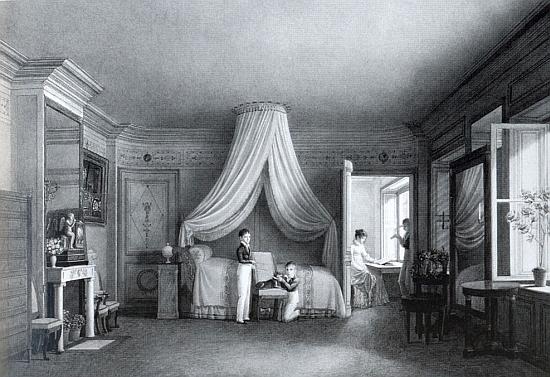 Stojí tu jako chlapec s matkou a bratry Edmundem i Karlem v ložnici Schwarzenbergů na rakouském velvyslanectví v Paříži, kde obraz roku 1812 vytvořil malíř Auguste Garnerey