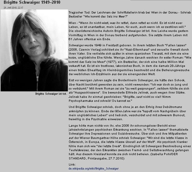 Nekrolog v rakouském listu Der Standard