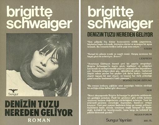 Obálka tureckého vydání (1985) další z jejích knih v Istanbulu (Sungur Yay)