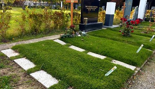 Její hrob na ústředním vídeňském hřbitově, skupina 40, číslo 72